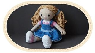 Вязаная кукла крючком Розали. Crochet doll Rosalie.