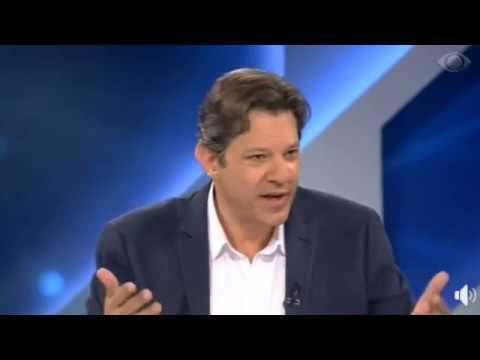 Haddad, vice de chapa de Lula, participa do programa Canal Livre