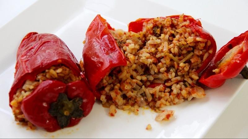 Kırmızıbiber Dolması Tarifi Vegan Sultan'ın Mutfağı