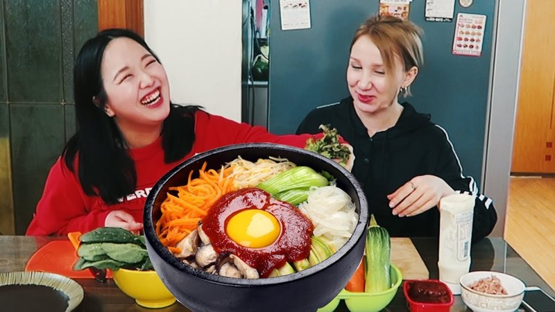 Как готовить Пибимпаб Еда в Южной Корее
