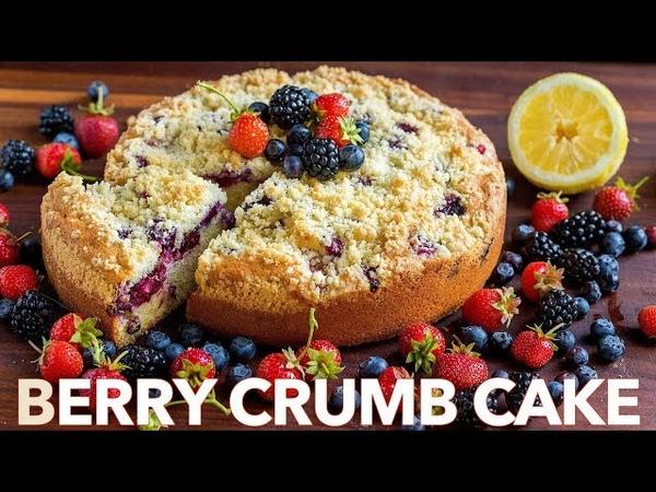 Triple Berry Crumb Cake Recipe