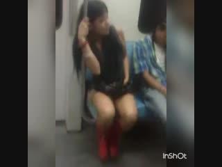 Girl really needs to pee