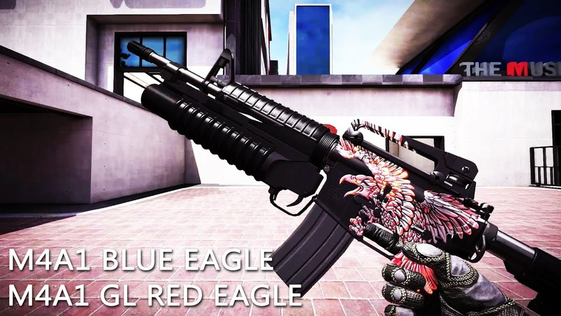 🌐BLACK SQUAD БЛЕК СКВАД M4A1 BLUE EAGLE M4A1 GL RED EAGLE
