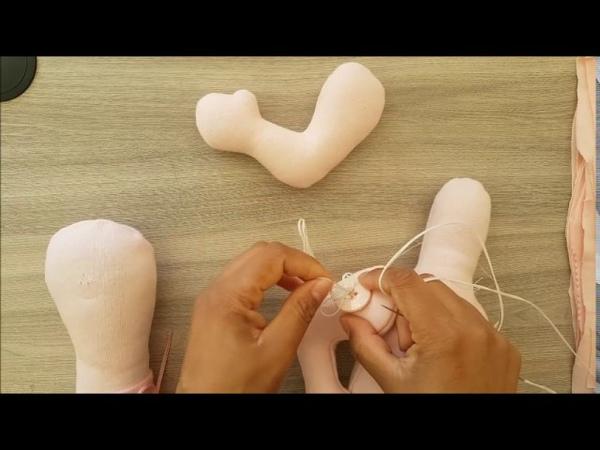 Montagem do corpo dos bonecos - Apostila snoopy-aula 4