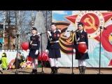 Три танкиста исполняют кадеты Устьвашской школы - Надя Бешенкина, Катя Булатова и Ксюша Булдакова