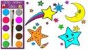 Zeichnen und Ausmalen für Bunte Sterne für Kinder Malbuch für kinder Sky color kids