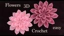 Como hacer flores en 3D paso a paso a Crochet tejido tallermanualperu