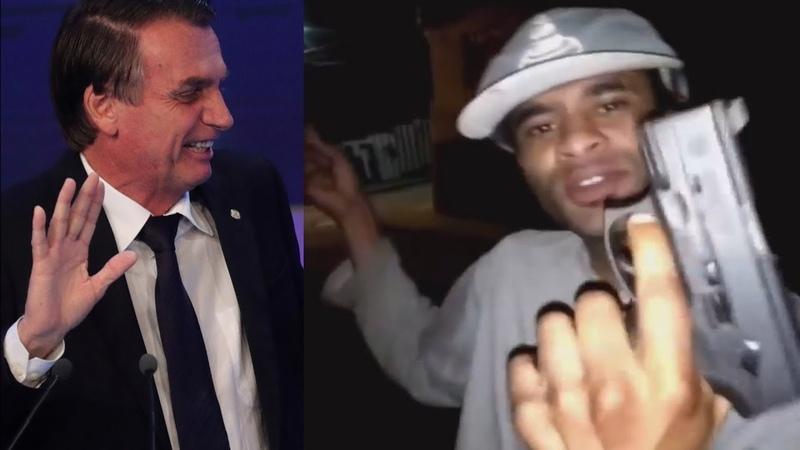 Bandido grava vídeo ameaçando Bolsonaro com uma pistola mas é preso e se da mal