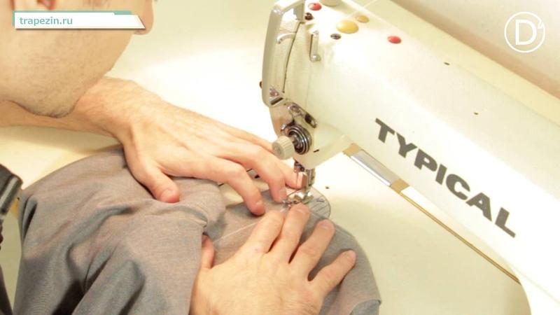 D'school. Практический урок №13. Обработка застежки брюк с отрезным гульфиком и откоском.