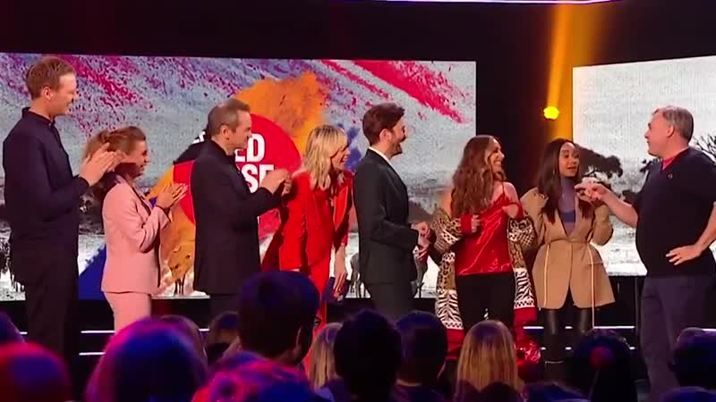 Jade Leigh-Anne from @LittleMix singing with @EdBalls Shout Out To My Ex for RedNoseDay on Twitter @comicrelief