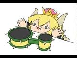 Bongo cat Bowsette and Mario