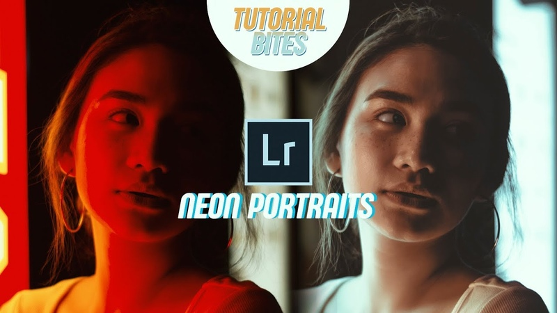 HOW TO EDIT NEON PORTRAITS IN LIGHTROOM | Tutorial Bites