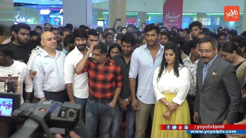 Sandakozhi 2 Celebrities Special Show at PVR ICON VR Mall Vishal Varalaxmi Vijaysethupathi