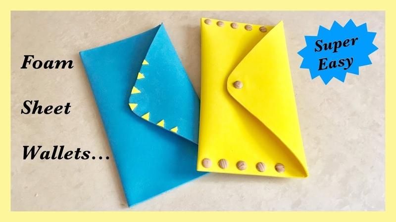 Easy Foam Sheet Wallet / DIY / Travel Wallet | Priti Sharma