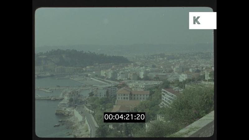 1970s French Riviera, Coastline Panorama, 35mm
