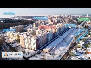 ЖК «Дом у Разлива» от застройщика ГК «Прок» (аэросъемка: март 2018 г.)