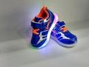 Кроссовки светящиеся Утор синие нажимайка 22-27 рр