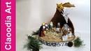 Szopka Bożonarodzeniowa z papierowej wikliny i filcu (DIY Christmas crib, paper wicker, felt)