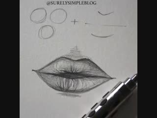 Учимся рисовать губы