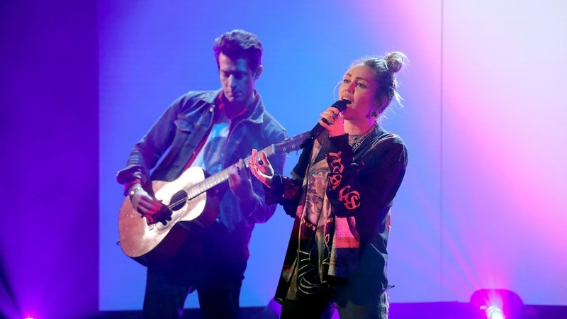 Miley Cyrus Mark Ronson Perform 'Nothing Breaks Like a Heart'