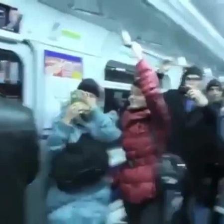 Penguin in subway