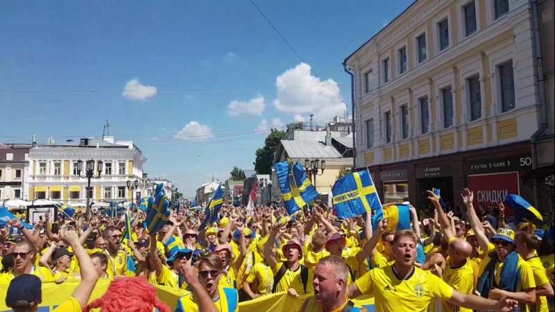 Шведы на ЧМ2018 в Нижнем Новгороде