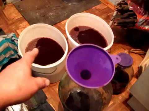 Второй раз сливаю с осадка вино Изабелла. Видео с подсказками