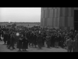 Crowds of visitors at Lakehurst Naval Air Station, New Jersey, to see the dirigib...HD Stock Footage