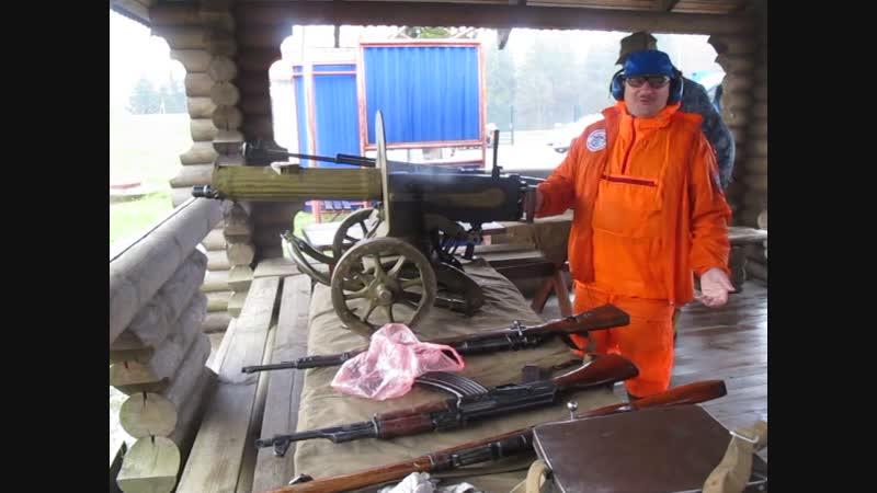 Стрельба из Максима и ПТРС в музее Линия Сталина