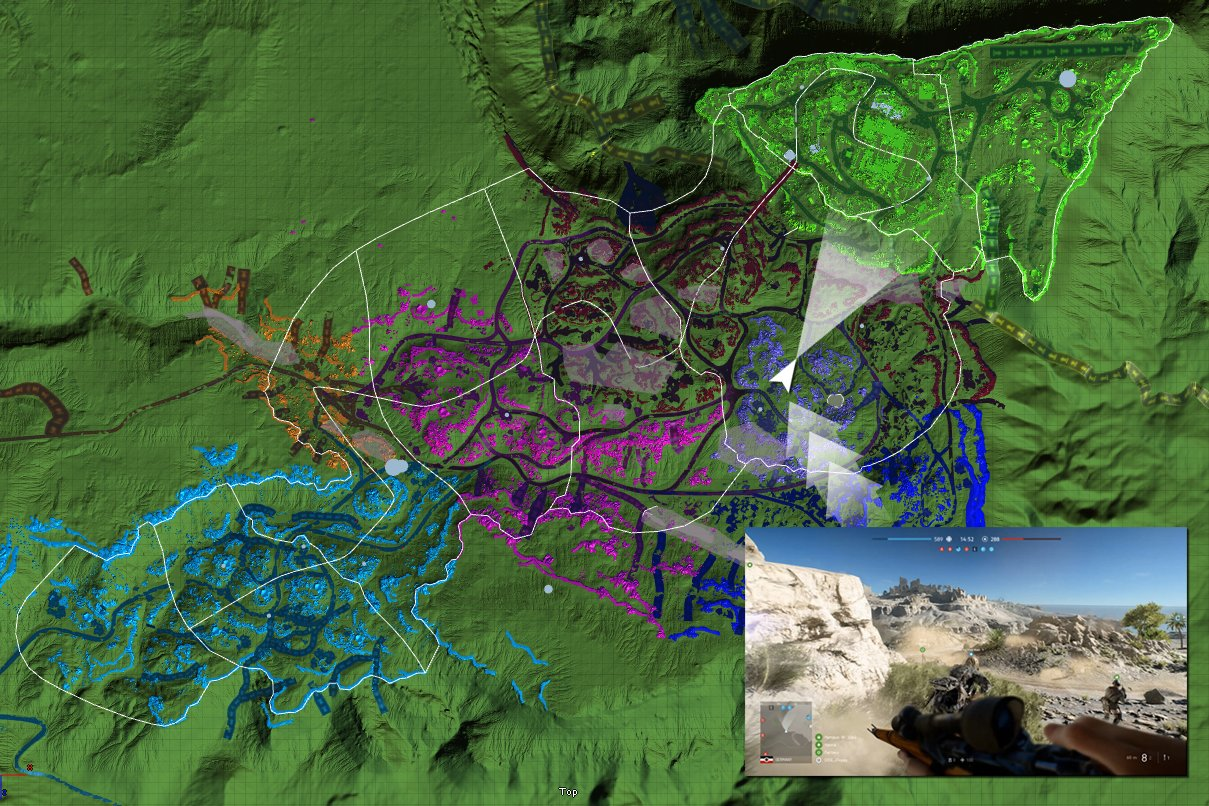 "Карта ""Хамада"" в Battlefield 5"
