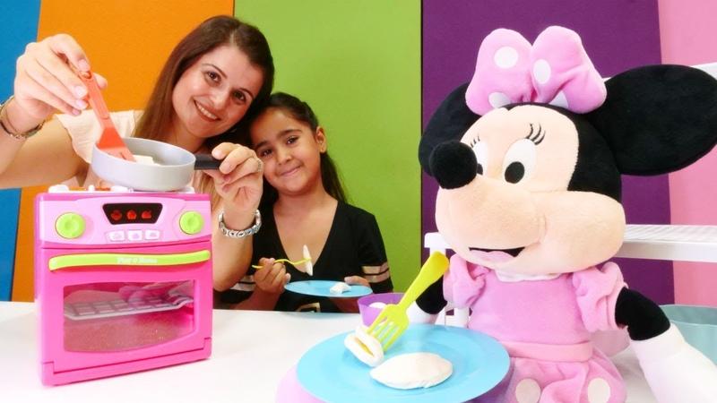 Play Doh oyunu Minie Mouse pişi yer mi Yemek pişirme oyunu
