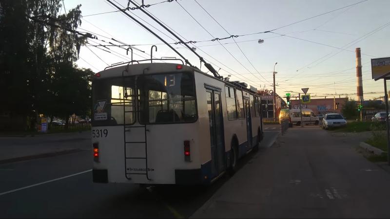 Троллейбус, маршрут №13 ВЗТМ-5284 б.5319 (14.07.2018) Санкт-Петербург