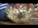 Рыба и гриль Свекольные блины с копчёным судаком