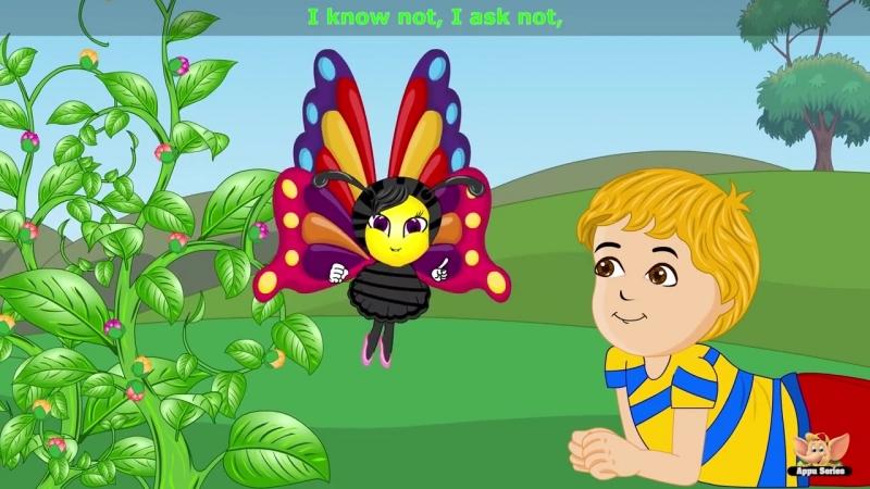Butterfly Butterfly Nursery Rhyme with Karaoke