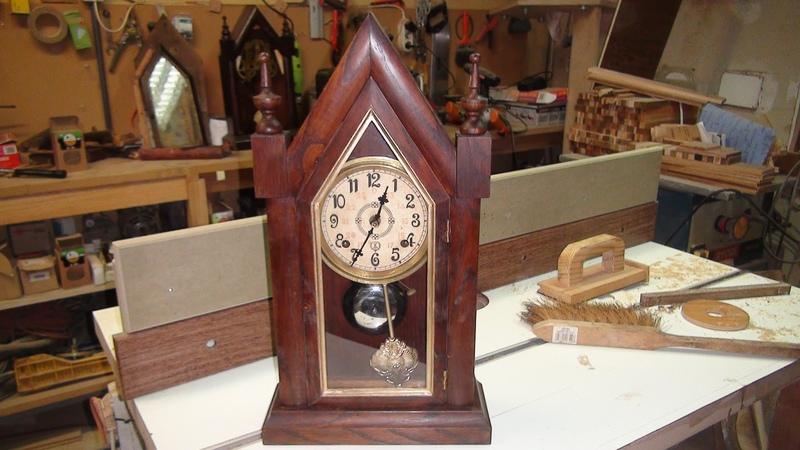 Steeple Clock - Construction With Reclaimed Wood Oak - Relógio de Capela