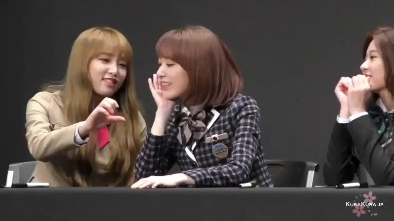 181116 IZ*ONE (IZONE) fansign Yena and Sakura fancam