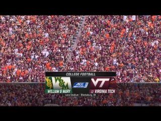 NCAAF 2018 / Week 02 / William  Mary Tribe - (12) Virginia Tech Hokies / 1H / EN