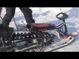 Снегоход из советской бензопилы «Урал»