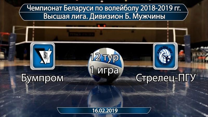 Волейбол 2019. Бумпром-Стрелец-ПГУ. Чемпионат Беларуси. Дивизион Б. 12 тур. 1 игра