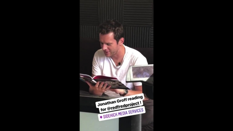Jonathan Groff and Michael Cerveris reading for Red Fred Project (from sorgatronmedia and dallas.a.graham's Instagram Stories)