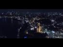 תל אביב בלילה -Tel Aviv promenade at - Moshe - aerial photography