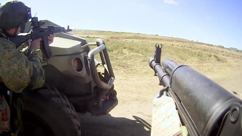 Учение со спецназом по отражению нападения диверсантов на маневрах «Восток-2018».