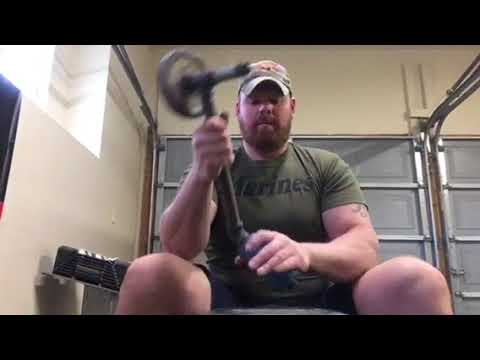 Fat grips added to DIY arm wrestlers supination device