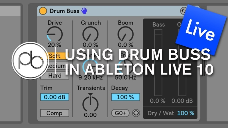 Using Drum Buss in Ableton Live 10