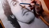 Drawing portrait of Sylvester Stalone ( John J. Rambo )