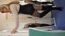 Paula in her Vollers corset, Berlei Pantie girdle boots crossdresser