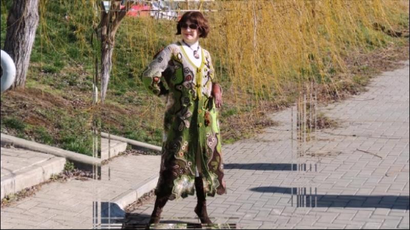 Авторский кардиган - пальто Оттепель от Арт-салона Светланы Кобзевой