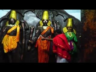 Sri Kodanda Ram temple, Hampi, India. Tungabhadra river touches the lotus feet of Shri Ram.