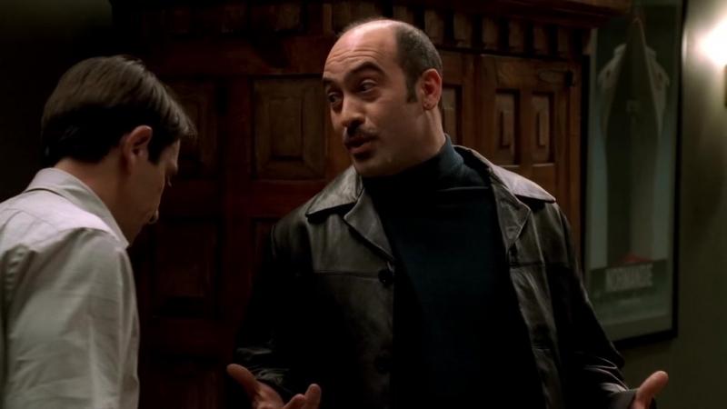 (Клан Сопрано S04E06_11) Арти репетирует и идёт к Жану Филипу за бабками, Крисси - наркоша