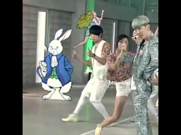 BTS Jungkook and BTS JHope predebut as a backup dancer.